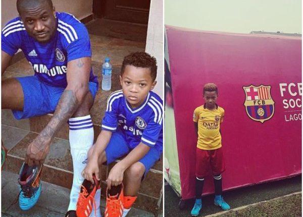 Peter Okoye's son Cameron joins Barcelona feeders