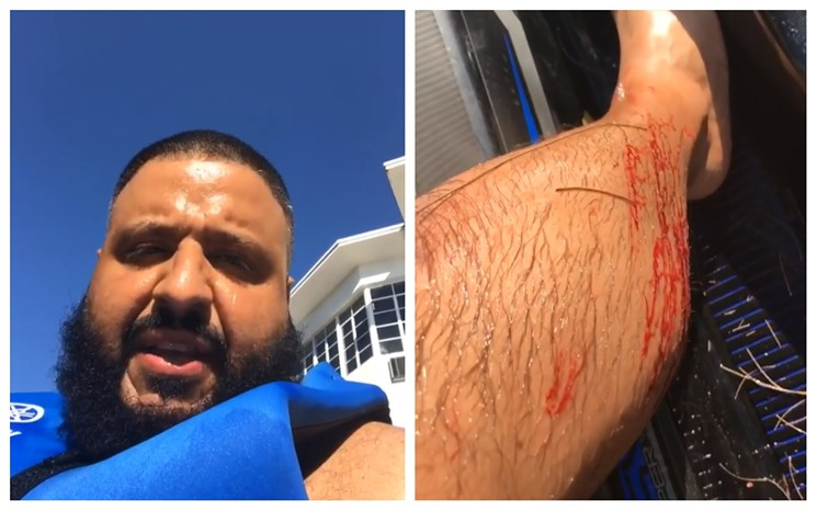 DJ Khaled Documents Jet Ski Accident on Instagram