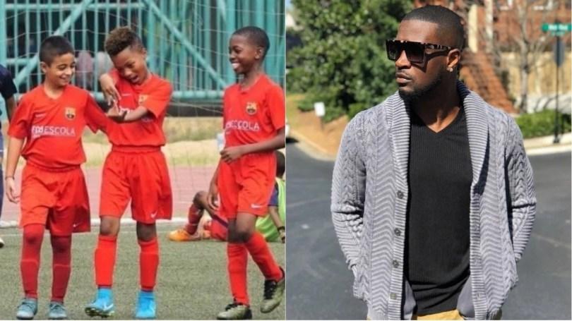 Peter Okoye Shower Praises On Cameron Over His Football Career