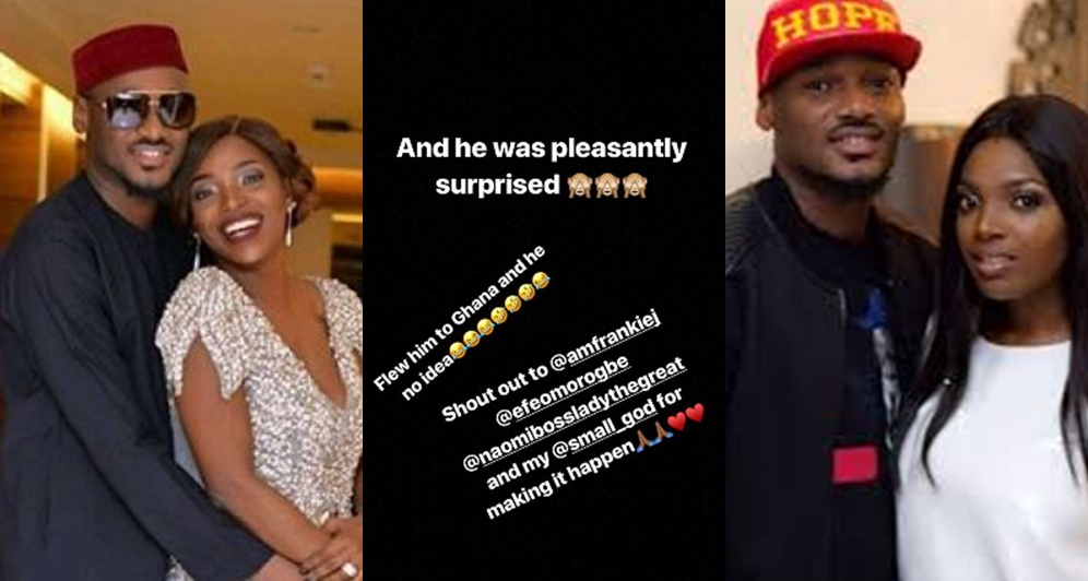 Annie Idibia Surprises 2baba, Takes Him To Ghana To Mark Their Wedding Anniversary