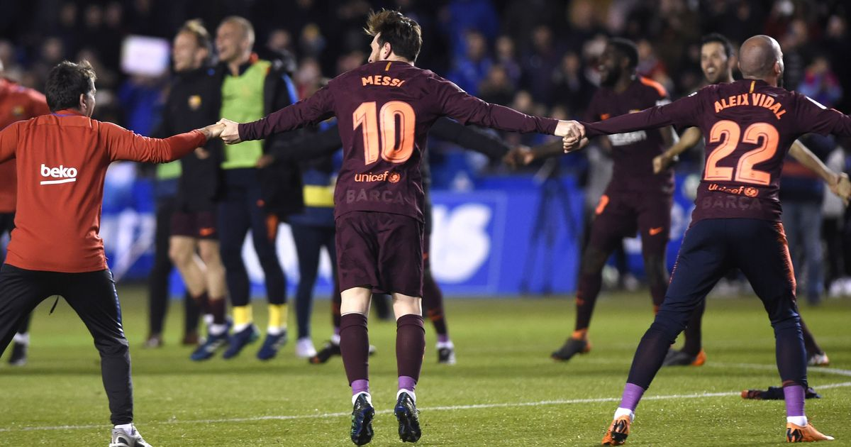 Messi Nets Hat-trick To Hand Barca Another La Liga Title