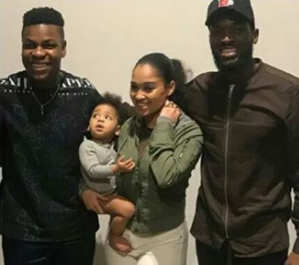 D'banj steps out with wife and son for movie screening (photos)
