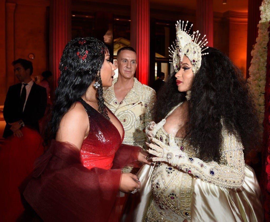 Cardi B & Nicki Minaj conversing at the MET Gala has the internet buzzing