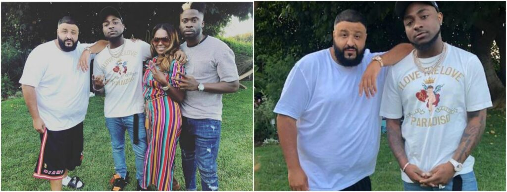 DJ Khaled Hosts Davido In His Home