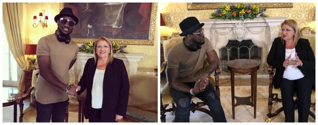 Peter Okoye Meets With The President Of Malta