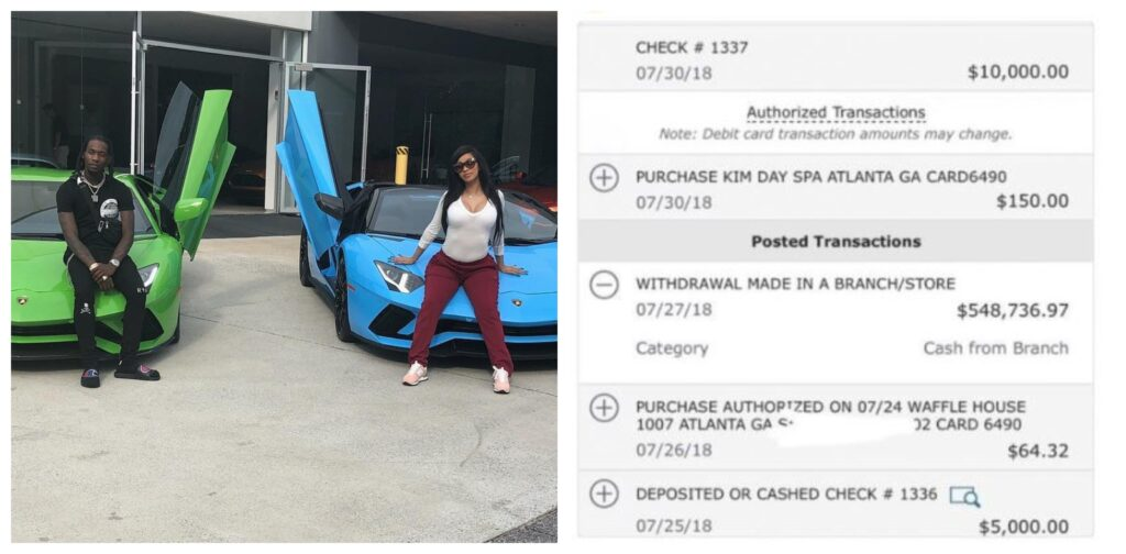 Cardi B Shares Bank Statement To Prove She Indeed Bought Her Lamborghini