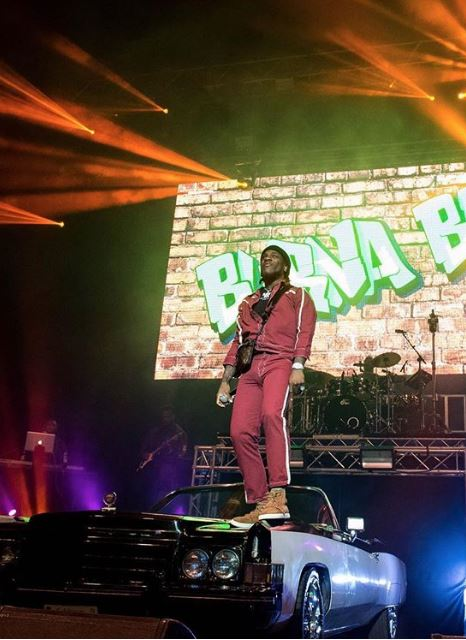 Burna Boy Grand Entrance At His Sold Out Concert In O2 Arena, London