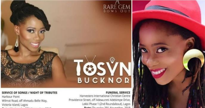 Tosyn Bucknor To Be Buried This Week, Family Releases Obituary