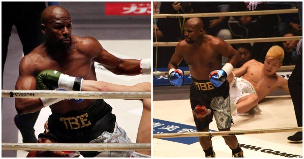 Floyd Mayweather makes N32 million in two minutes after defeating Tenshin Nasukawa