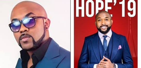 Banky W celebrates, as he gets the highest number of votes