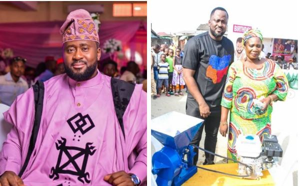 Desmond Elliot gives back to the society as he celebrates 45th birthday (Photos)