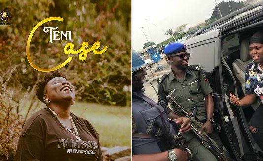 Police Confronted Teni For Saying She Will Slap Police Man (Video)