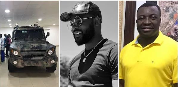 Man shows off armored vehicles made for Nigerian police, army with local contents, Ali Baba, Falz react (photos)