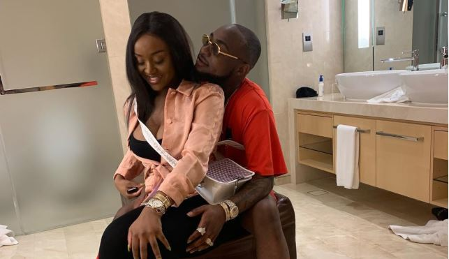See Davido And His Girlfriend All Loved Up In New Photo