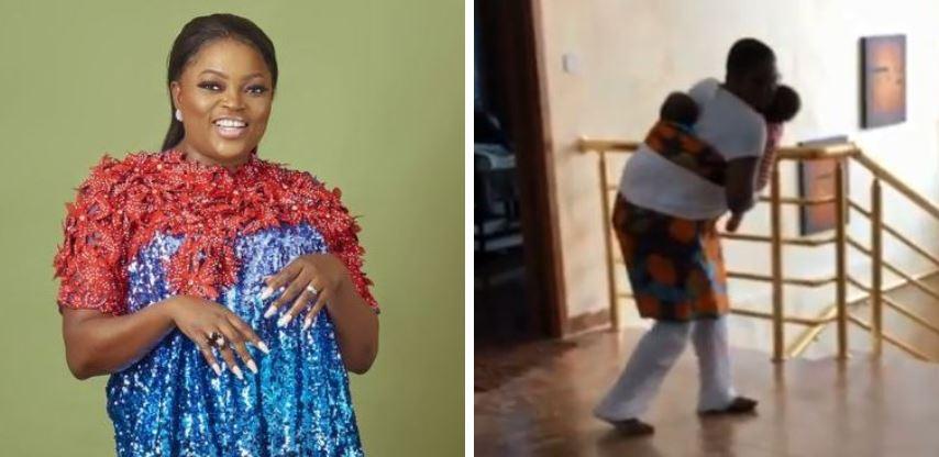 Funke Akindele dances with her twins (Video)