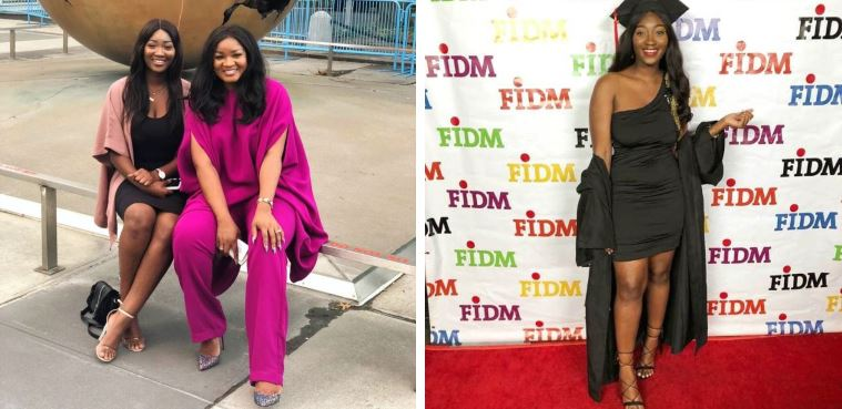Omotola Jalade celebrates second daughter, Meraiah as she graduates with two degrees (Photos)