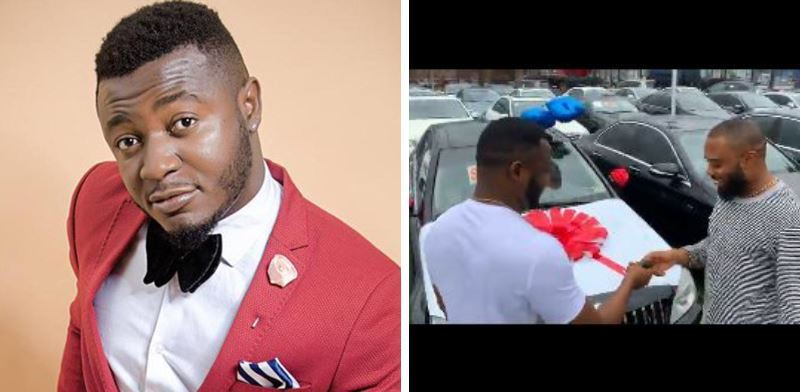Mc Galaxy gifts producer T- Spice a brand new Benz worth ₦30 million