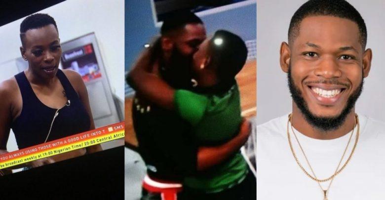 BBNaija 2019: Isilomo and Frodd share romantic hug, kiss in the house