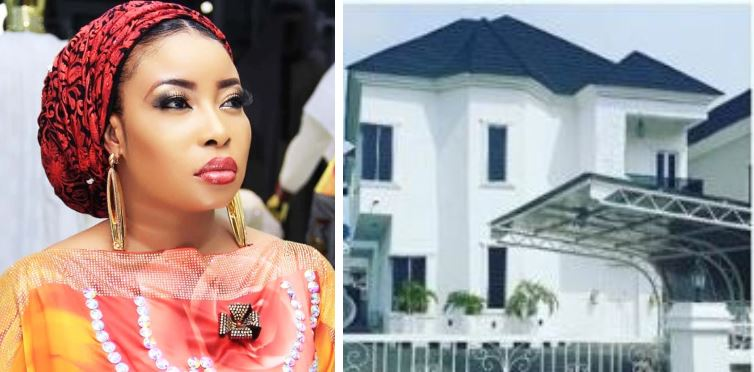 Actress Lizzy Anjorin pens down an emotional note as she unveils her new house, (Photos)