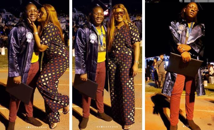 Actress Omotola jalade Ekeinde's son, Michael Ekeinde graduates with honors