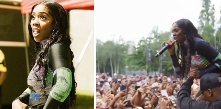 Tiwa Savage Embarrassed as She Suffered Technical Problem on Stage at the Wireless Festival in Finsbury Park, London