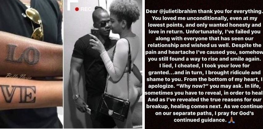 """""""I lied, I cheated, I took your love for granted...""""- Iceberg Slim pens down public apology to Juliet Ibrahim"""