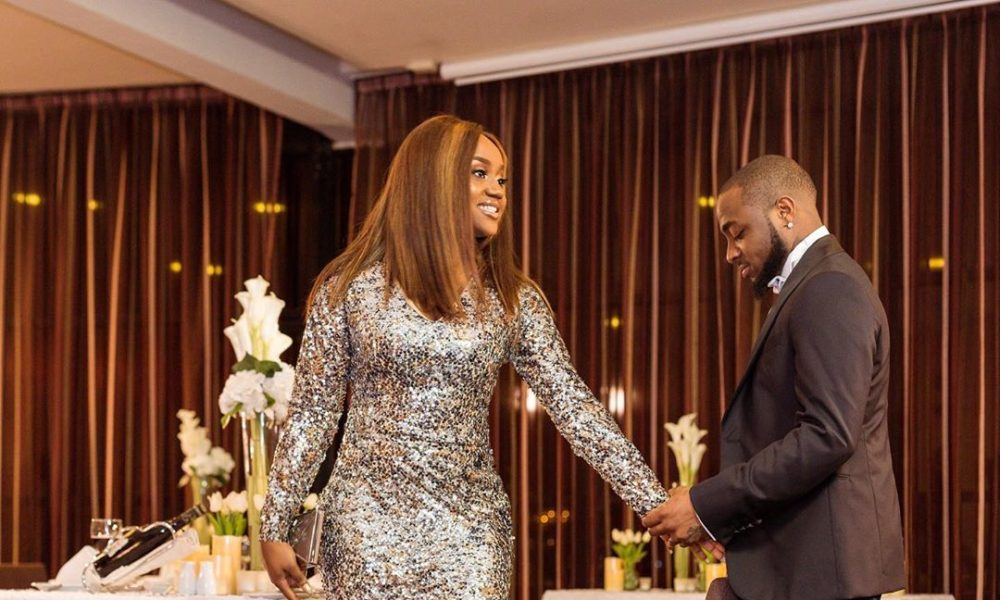 #CHIVIDO2020: 'She said YES' – Davido shows off Chioma's huge engagement ring