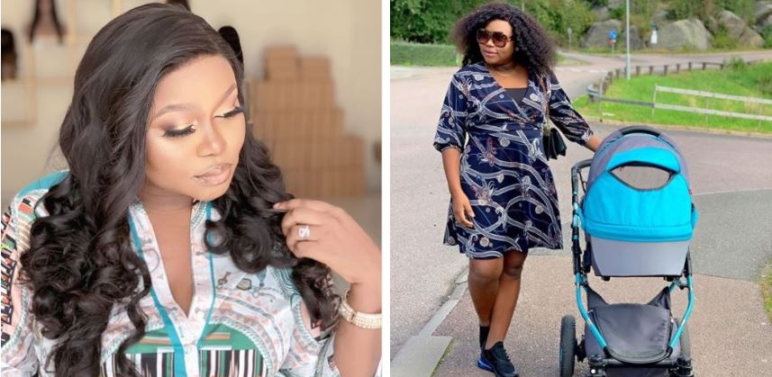 Ruth Kadiri steps out with her baby Reign for a stroll (photos)