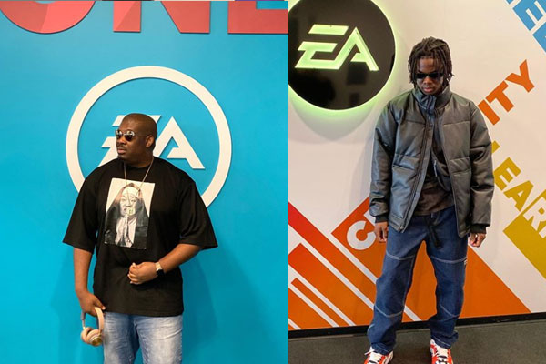 Don Jazzy and Rema were spotted at the EA sport in US