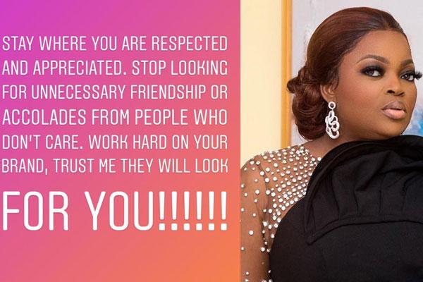 Funke Akindele Bello shares her thoughts