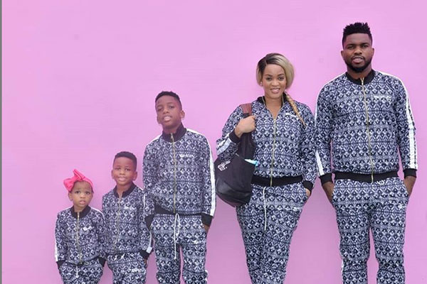 Joseph Yobo and family stuns in matching outfit