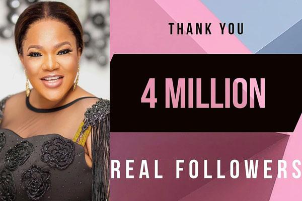 Nollywood actress, Toyin Abraham hits 4million followers on Instagram