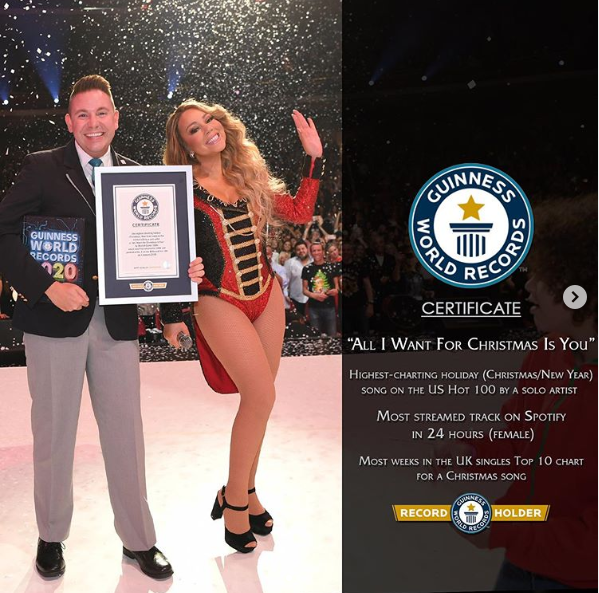 Mariah Carey breaks 3 Guinness World Records with her Christmas classic song (Photos)