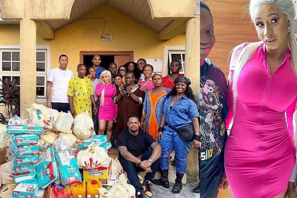 Cardi-B-makes-a-visit-to-an-Orphanage-home-in-Lagos