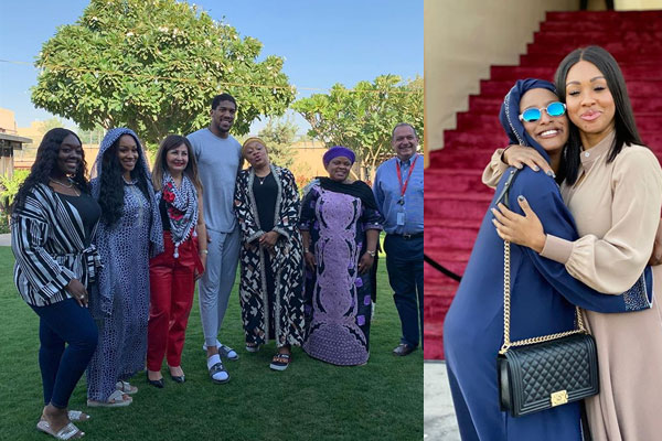 DJ Cuppy, Janet Joshua, Anthony Joshua's Mum and other arrive Saudi Arabia ahead of His match Tomorrow