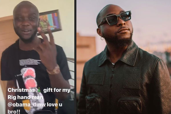 Davido surprises his best friend Aloma with a Rolex Wrist watch for christmas