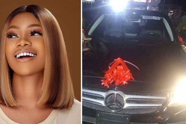 Tacha receives a car gift from her Titan fans on her birthday