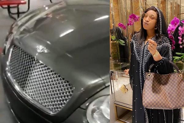 Tonto Dikeh gets herself a Bentley car