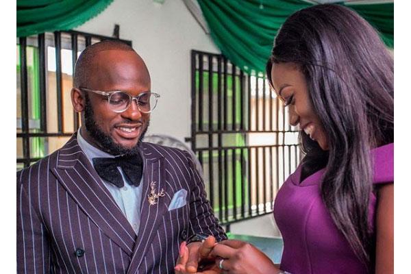 Comedian OTAGHWARE O. ONODJAYEKE aka I go save ties the knot the court with his partner, IYABO
