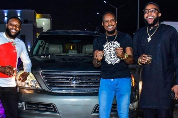 Nollywood actor JNR POPE gets an SUV gift from the E-Money and his brother KCEE