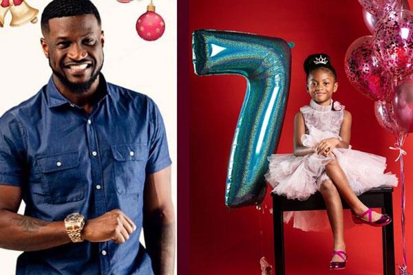Peter Okoye celebrates daughter, Aliona as she clocks 7yrs old today