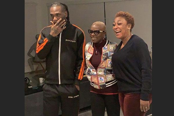 World Music Grammy Award winner, Angelique Kidjo in Lagos, meets with Burna Boy and his mum, Bose Ogulu