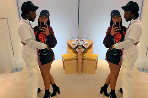 BurnaBoy and stefflondon shared lovely up photo