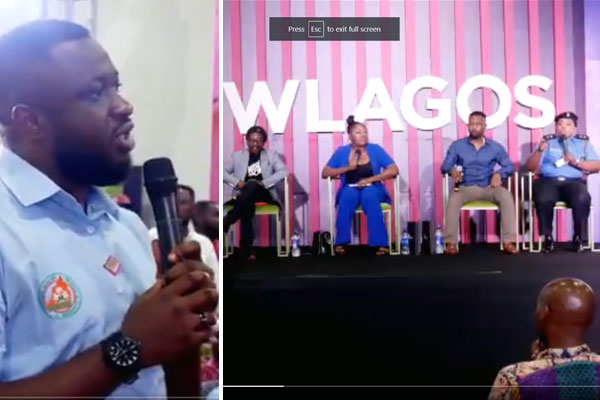 The ongoing social media week got disrupted after Police PPRO, Dolapo Badmus fired back at one of the audience