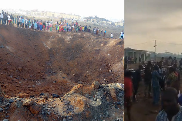 Explosion rocked Akure, Ondo state in the early hours of Today