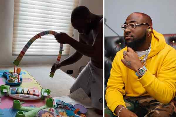 Coronavirus: watch Davido become a bricklayer due to self isolation
