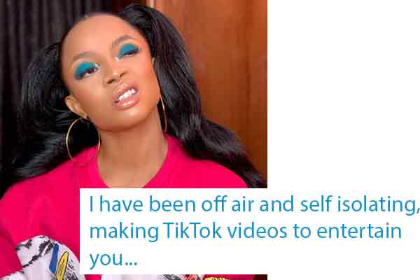 Covid-19: Toke Makinwa gives updates about her condition since the AMVCA on 14th of March