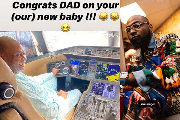 Davido's dad, ADEDEJI ADELEKE buys a new private jet
