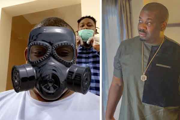 Don Jazzy on full guard as he decides to barb his hair amidst the coronavirus scare