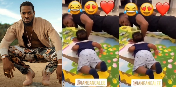 "Image result for Heart-melting video of Nigerian singer, D'banj & his son ""working out"" has gone viral on social media"